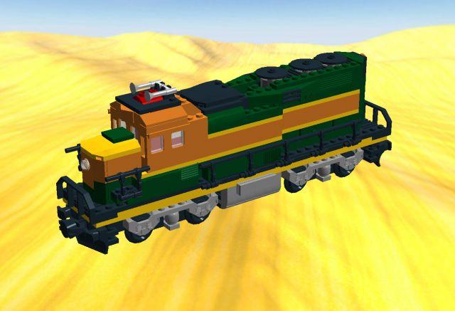 Cat  trains lego bnsf